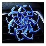EliteMill - Deodorante per auto, portatile, resistente, a doppia elica, con clip di sfiato per auto, con diffusore di aromi, a forma di ragno rotante