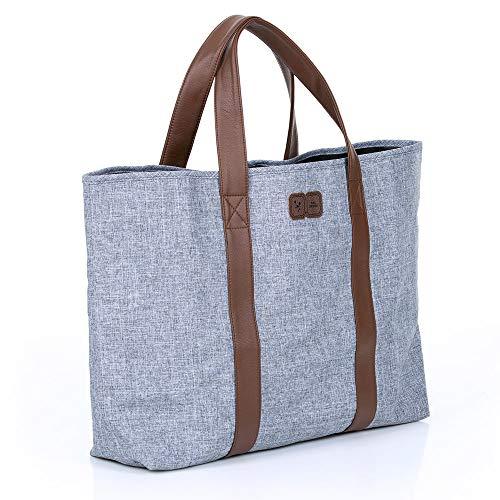 ABC Design Strandtasche - XXL Familientasche - große Tragetasche/Badetasche - Graphite Grey