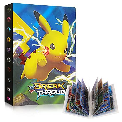 Raccoglitore Carte Pokémon, Porta Carte Pokemon Grande, L'album ha 30 Pagine e può Contenere 240 Carte Album per Carte Pokemon GX Ex, Album di Carte Collezionabili Pokémon Cartella (Lightning Ball)