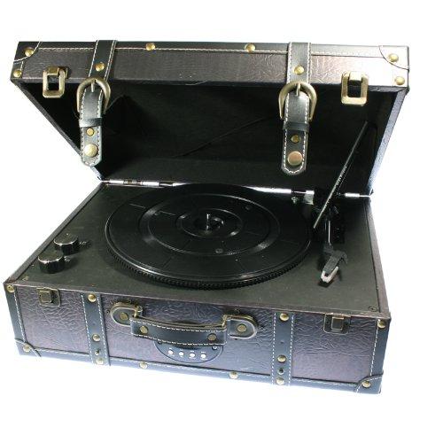 Tocadiscos maleta modelo MARYLIN con lector de USB y tarjetas SD/MMC y entrada de audio RCA. FH-05