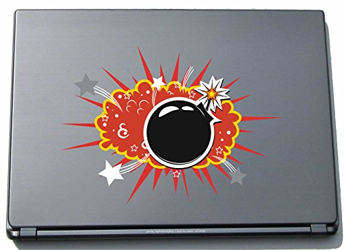Laptopsticker laptopskin Comic 110 - grappig motief Boom - 150 mm sticker