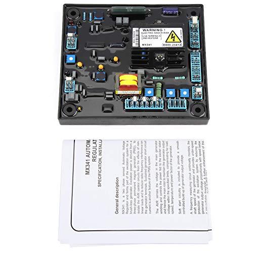 Yosoo Health Gear Regulador de Voltaje, protección incorporada de Baja Velocidad MX341 Regulador de Voltaje automático para fábrica para Grupo electrógeno