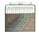 Your Heart's Delight 39.5' x 39.5' x 3' Vintage Green Metal Fence