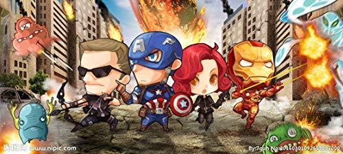 Custom Large 3D Wallpaper Mural Avengers sci-fi Movie Internet Cafe Marvel Hero US Captain Background Wall