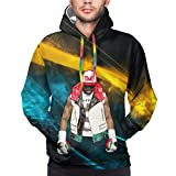 Vilisabull Floyd-Mayweather Logo TMT Men's 3D Hoodies Sport Pullover Sweatshirt with Colorful Drawstring Hat Pocket 3XL
