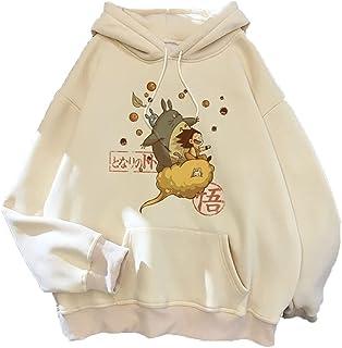 Totoro Hoodies Men's Pullover Female Sweatshirt Studio Ghibli Harajuku Coat top Winter Warm (Color : 001, Size : X-Small)