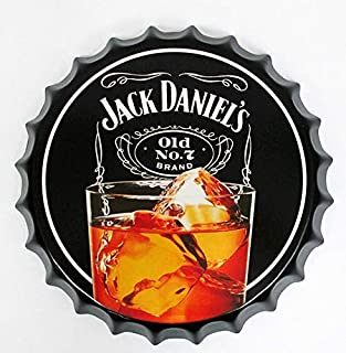 2but Jack Daniel's Bottle Caps Metal Tin Signs Cafe Beer Bar Decoration Plat 13.8