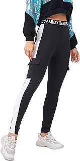 MAI&FUN Women Legging High Elastic Tights Sports Black Long Pants for Running Yoga Fitness