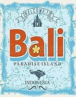 Welcome To Bali Paradise Island 金属板ブリキ看板警告サイン注意サイン表示パネル情報サイン金属安全サイン