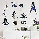 Ninja Wall Decals Sa_suke Uchiha Stickers for Boys Dorm Japanese Anime Decor Art 16x24in