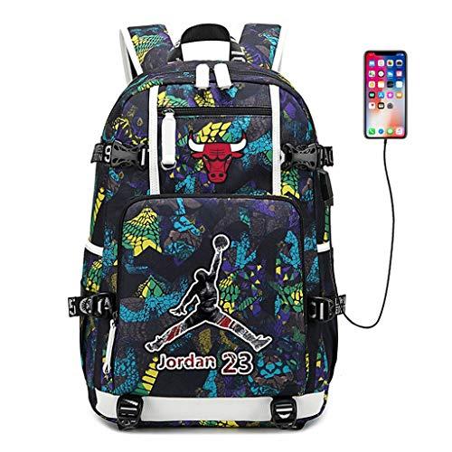 Zpyh Los Aficionados de Baloncesto Michael Jordan, Estrella Luminosa Mochila Mochila Student Travel Bookbag Hombres Mujeres (3 Colores) (Color : Yellow)