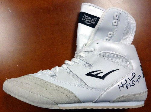 Evander Holyfield Signed Everlast Boxing Shoe Left - PSA/DNA Authentication - Boxing Memorabilia