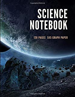 Science Graph Paper Notebook: Notebook for School Science Class Large Size 8.5 x 11 inches with 120 Grid Pages for Middle ...