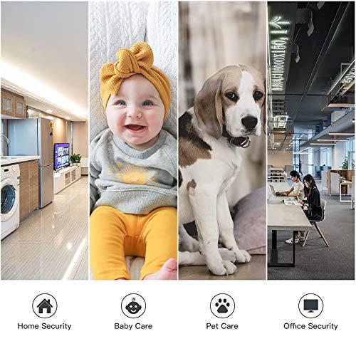 ÜberwachungsKamera innen wlan handy, CACAGOO 1080P WLAN IP Kamera Babyphone mit 2 Wege AudioIP-Kamera-WLAN für Haustiere und Kinder, Babyphone mit Nachtsicht