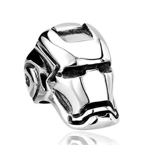 高級感 特A品 アクセサリー Iron Man 彫刻 アイアンマン リング プレゼント 贈り物 (14号~29号) ステンレス メンズ B系 お兄系 誕生日 記念日 ファッション男性用 指輪 (ステンレス鋼, 18号)