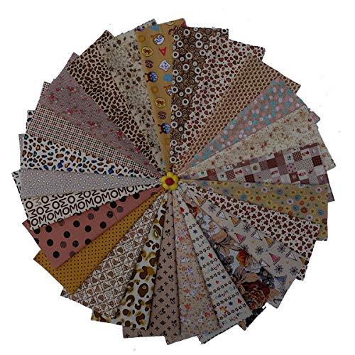 WXZJ 25 stuks 30 x 25 cm katoenen stof per meter stof resten stofpakket voor patchwork 100% katoen doe-het-zelf katoenen doek met veelzijdige patronen voor het naaien 230*30cm
