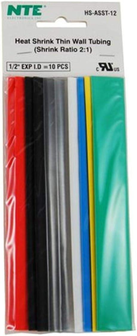 NTE Electronics HS-ASST-12 Thin Soldering Wall Heat Kit Ass Shrink It is very popular Tubing