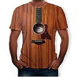 Overdose Moda para Hombre Guitarra Divertida Camiseta Impresa en 3D Cool Summer Manga Corta Camisetas Creativas con Encanto Tops Fiesta Boda de Gran tamaño
