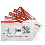 Cardiac BadgeGuru Set by Tribe RN - 5 Nursing Badge Reference Cards Include ACLS, EKG, etc. Designed for Emergency Nurses, EMTs, and Paramedics (Cardiac)