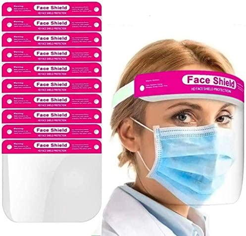 Unisex Face/_Shield/_Protect/_Visor Cover Windproof Transparent 2 Oil Fume Spitting Anti-Fog Lens for Daily Activities and Working