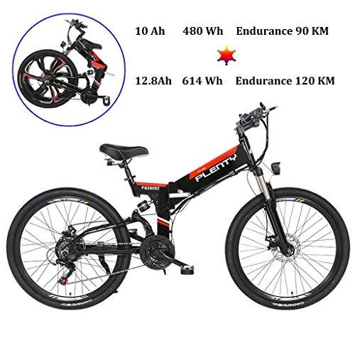 """ZJGZDCP City Electric Bike 26"""" Ciudad de Bicicletas Potente Motor EBike 350W 48V / 10AH 480Wh ciclomotor - Bicicletas extraíble de Iones de Litio de la batería eléctrica for Mens Adultos"""
