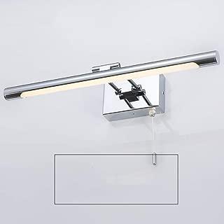 Moderne Chrome Poli /& Verre IP44 Salle de Bain Mur Lumière Avec Tirette Commutateur