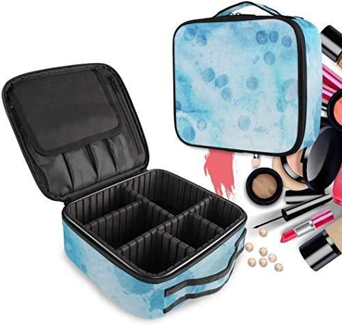 Cosmétique HZYDD Bleu Art Abstrait Make Up Bag Trousse de Toilette Zipper Sacs de Maquillage Organisateur Poche for Compartiment Femmes Filles Gratuit
