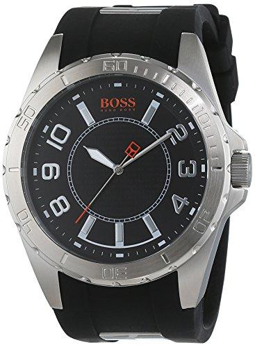Boss Orange Icon 1512807 - Reloj analógico de Cuarzo para Hombre, Correa de Silicona Color Negro