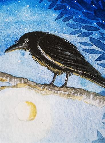 Die Raggedy Crow von Hannah Willow Mit einer Krähe auf einem Ast