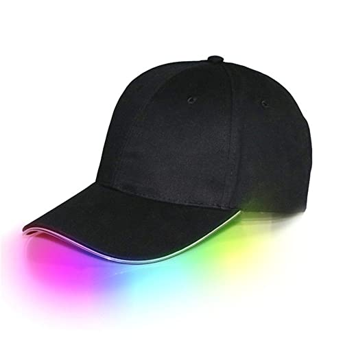 372da770b70 jiguoor LED Hat led Lighted Glow Club Party Sports Athletic Black Fabric  Travel Flashlight Light up