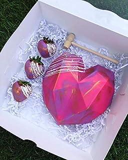 Chandra Bazaar® Silicon 6 inch Pinata 3D Diamond Shape Heart Mould Pinata Cake Mould, Pinata Set with Wooden Hammer Set of...