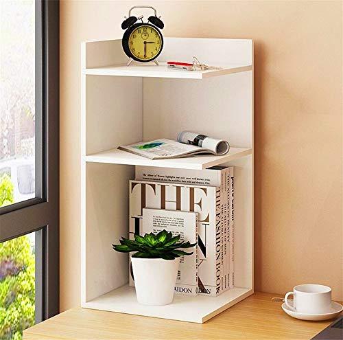 Estantería, almacenamiento de escritorio de madera simple estantería de escritorio Caja de la esquina Oficina del Estudiante rack de almacenamiento en rack Estanterías combinación de lo moderno simpli