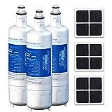 GOLDEN ICEPURE LT700P Replacement Kenmore 469690, LG ADQ36006101 Water Filter, and Air Filter LT120F, 469918 for Refrigerator LFX31945ST, LFX31925ST, LFX30766S, LFXC24726, LFXS24623 Combo, 3Pack