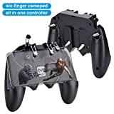 HEYSTOP Manette PUBG Mobile AK66 Contrôleurs de Jeu Mobile [Six-Finger Fonctionnement Version], Manette de Jeu Sensitive Shoot...