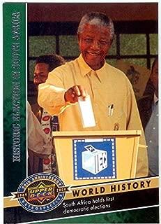 Nelson Mandela trading card (President South Africa) 2009 Upper Deck #741