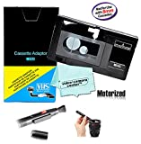 Motorized VHS-C Cassette Adapter for JVC C-P7U CP6BKU C-P6U,Panasonic PV-P1,RCA VCA115 + LensPen Lens Cleaner + 1 VCC113 Micro-Fiber Cloth