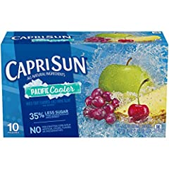 Ten 6 fl. oz. pouches of Capri Sun Naturally Flavored Pacific Cooler Mixed Fruit Juice Drink Blend Capri Sun Naturally Flavored Pacific Cooler Mixed Fruit Juice Drink Blend delivers fun refreshment with all natural ingredients Our ready to drink juic...
