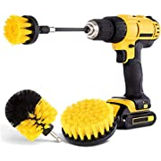 Hiware 4 Pack Drill Brush Attachment Set - Power Scrubber Brush Cleaning Kit - All Purpose Drill Brush with Extend Attachment for Bathroom Surfaces, Grout, Floor, Tub, Shower, Tile, Kitchen and Car