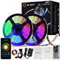 JMKMGL 80ft WiFi LED Strip Lights, Music Sync Color Changing Lights Works with Alexa Google Assistant Controlled by Smart APP, Ultra-Long 24m 720LEDs RGB Tape Light for Bedroom, Room, Kitchen, Bar