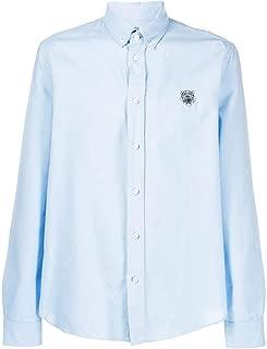 KENZO Luxury Fashion Mens F965CH4001LD63 Light Blue Shirt | Fall Winter 19