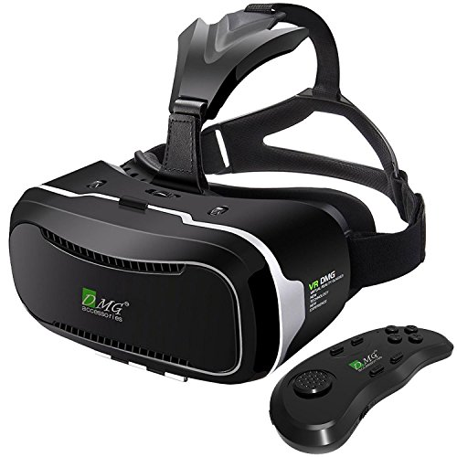 Amazing Deal DMG Virtual Reality Headset with Advanced Controller, DMG 3D VR Adjustable Glasses Virt...