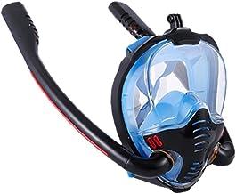 finebrand Snorkling Face Shield Full Face Double Tube Dykning Silikon Face Cover Anti-fog Och Anti-läcka Blå L Xl Mått