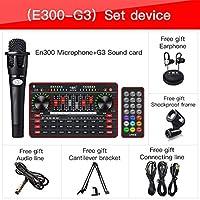 サウンドカードオーディオセットUSBライブブロードキャストマイクブルートゥースのコンピューターPC携帯電話歌う録音オーディオデバイス (Color : G3 with E300)