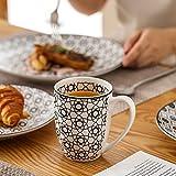 Vancasso, Haruka Kombiservice aus Porzellan, 40 TLG. Rund Geschirr Set, mit Kaffeebecher, Müslischale, Dessertteller, Flachteller und Tiefteller, Tafelservice für 8 Personen - 4