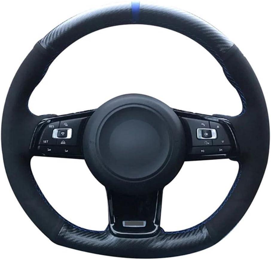 trend rank MDHANBK Car Steering Wheel Cover 5 popular Carbon Hand-Stitched Fiber DIY