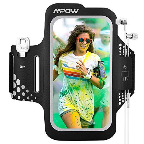 Mpow Fascia da Braccio, Sweatproof Fascia Sportiva da Braccio per iPhone XR/XS/X/8/7/6, Samsung Galaxy S7, S6【Fino a 6,2''】,per Corsa & Esercizi con Supporto Chiave e Tasca per Carte