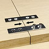 Pack of 8 | Clamping Mending Plate | Straight Steel Bracket Brace Repair Tabletop, Panel Connector | Galvanized Wood Table Top, Leg, Connecting | Clamp Fastener Draw Bolt Joint Furniture Woodworking
