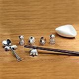Poggia bacchette in ceramica cinese a forma di gatto, per appoggiare coltello, forchetta e...