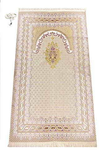 Alfombra de oración Musulmana con los Granos de rezo de Regalos   Janamaz   Sajjadah   Soft islámica Prayer Rug   Regalos islámicos   Alfombra de oración, Rosa