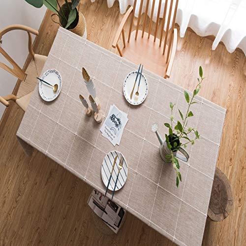 PhantasyIsland.com Mantel Antimanchas Cuadrado Mantel para Mesa de Cocina o Salón Lavable Diseño de Comedor Decoración del Hogar